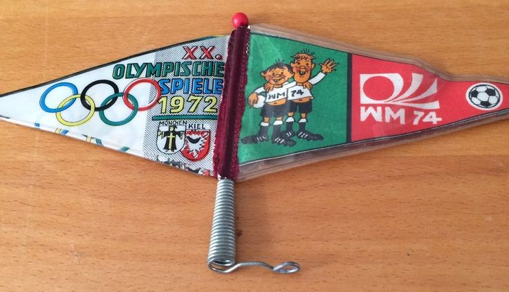 Rare World Cup GERMANY 1974 - Tip & Tap mascot and Olympic flag  | eBay