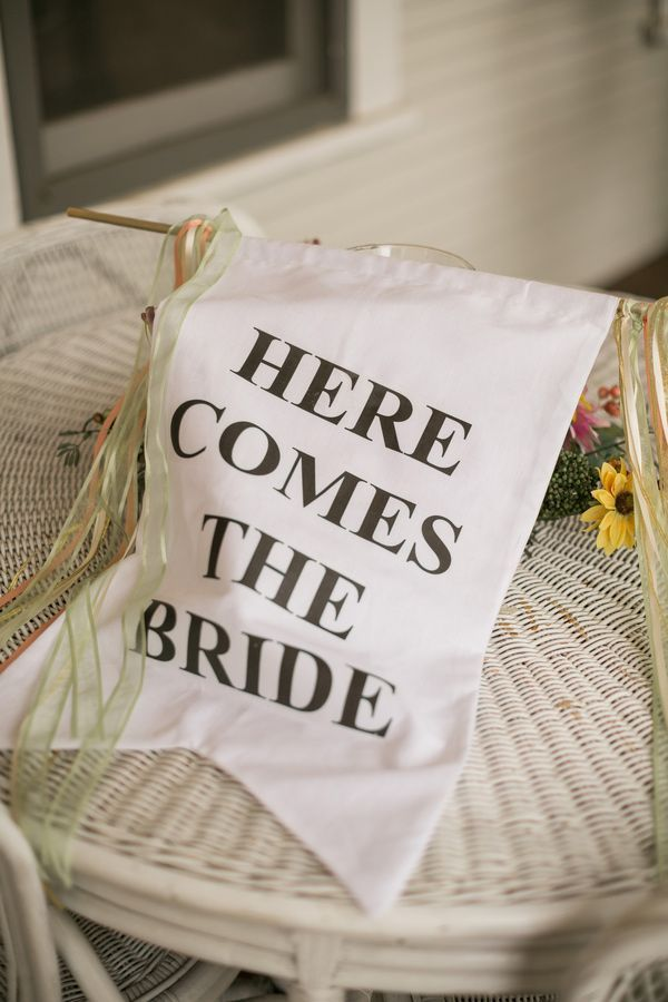 Here Comes the Bride Wedding Banner