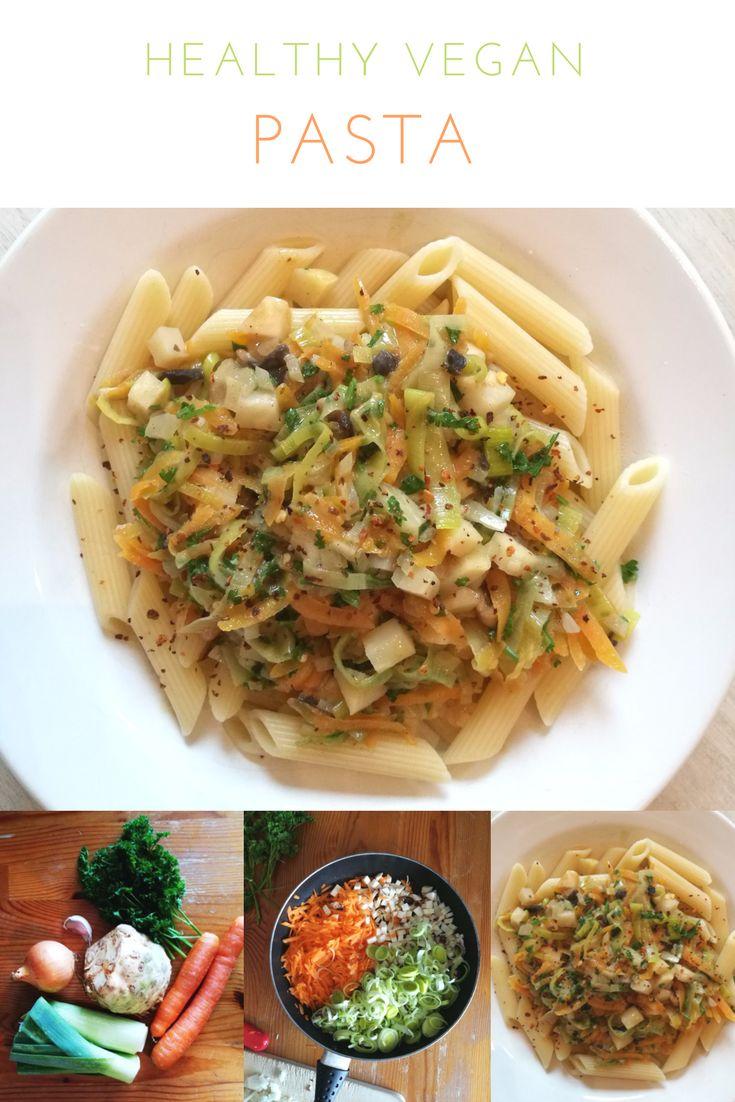Pasta, vegan, kochen, vegane Rezepte, Suppengrün Nudeln, Gemüse Sauce, lecker, einfache Rezepte, schnelle Rezepte, vegetarisch, gesund, einfach, veggie, günstig