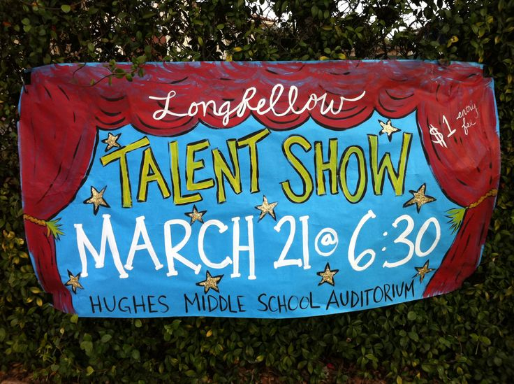 School Talent Show banner.