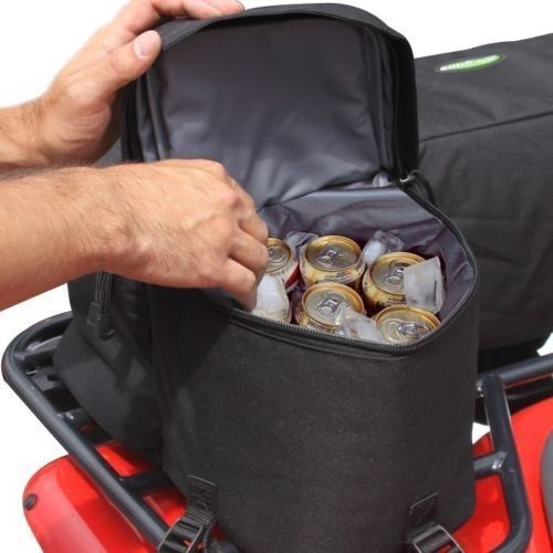 ATV Deluxe Padded Front Rear Rack Bag Pack Seat Wrap Secure Storage Gear Cargo  #KwikTek