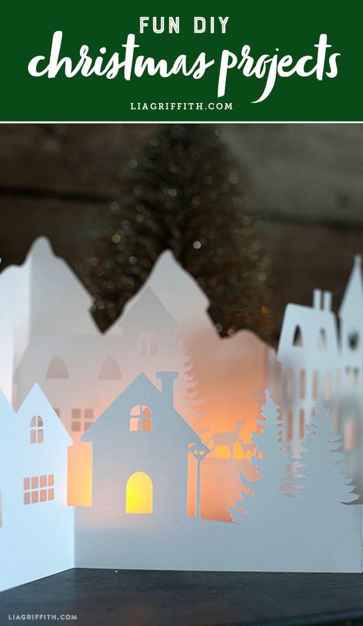 FUN DIY Christmas projects and ideas! www.LiaGriffith.com #HolidayDIY #DIYHoliday  #ChristmasDIY #DIYChristmas #kidscrafts #ChristmasCrafts #HolidayInspiration #HolidayIdeas #ChristmasInspiration #ChristmasIdeas