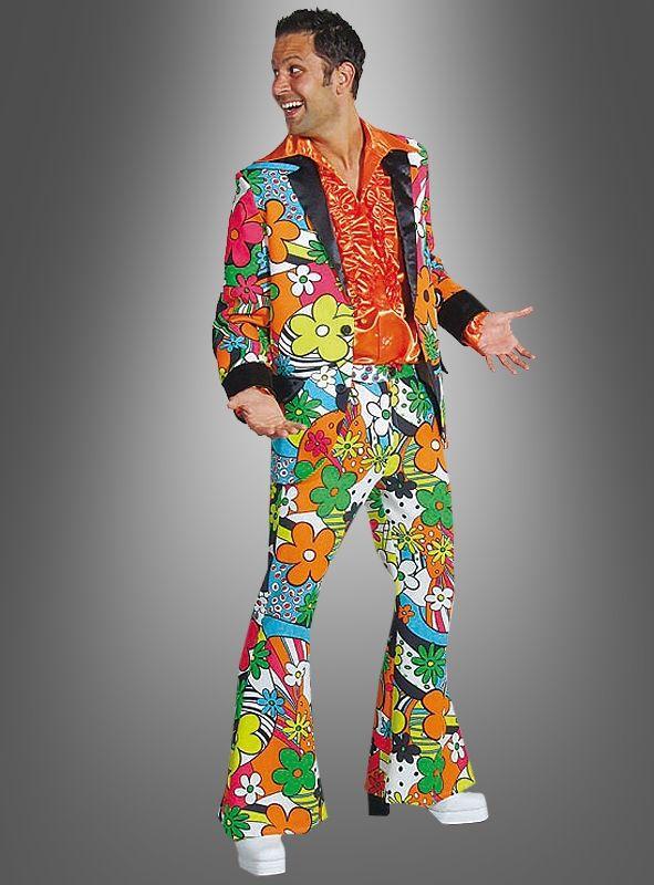 70er Jahre Kleidung Manner Disco Flower Power Neon 70 Jahre