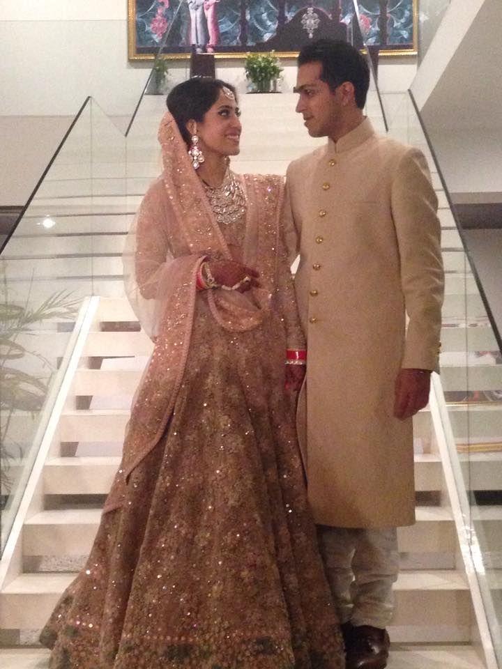 Fashion Designer Ridhi Mehra's wedding w/ Akshay Sekhri, Feb, 2015, she wears http://www.Sabyasachi.com/
