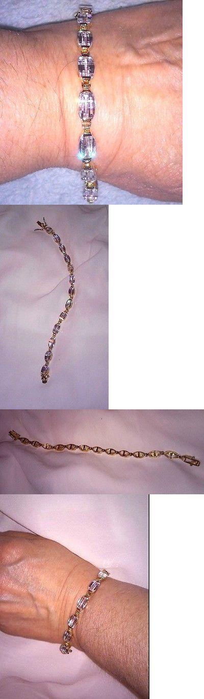 Other Fine Bracelets 3839: Hsn 7 Lazer Cut Absolute Cz Technibond Bracelet, 18K Gold Sterling Silver 925 -> BUY IT NOW ONLY: $50 on eBay!