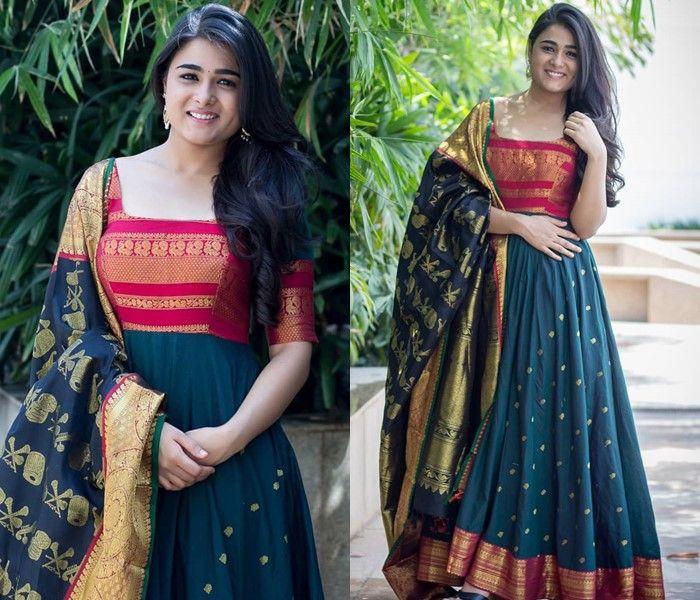 sari dress design