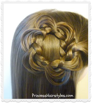 """Pretty hair flower made with """"melting braids"""""""