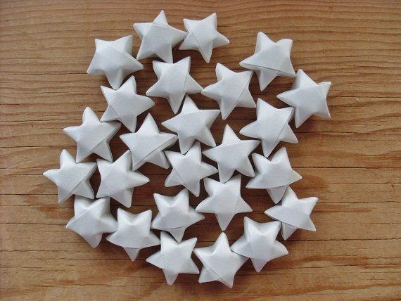 Stelle luminose Origami bianco set di 24. di coppleshop su Etsy