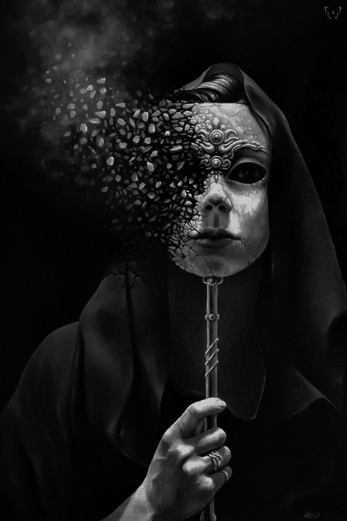 The longer I wear disguise that much quicker I lose the visage with each passing day.  I have been behind the Mask for so long that when it tears, it also rips my true face away.  Moths & Unfinished Dreams fall by the wayside.  Lost Identity by Tomasz Alen Kopera ©. °
