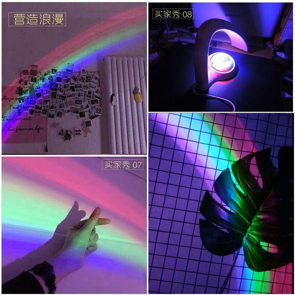 Led Rainbow Projector Room Night Light