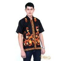 Jual Hem batik cirebon eBatik HEM Batik Cirebon Katun KP (Orange)