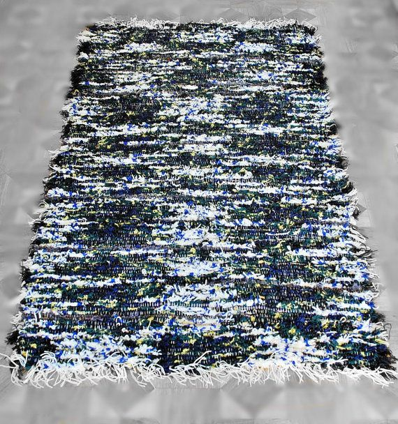 Fluffy rug Handwoven wool rug woven tapestry by MySunsetColor, $60.00
