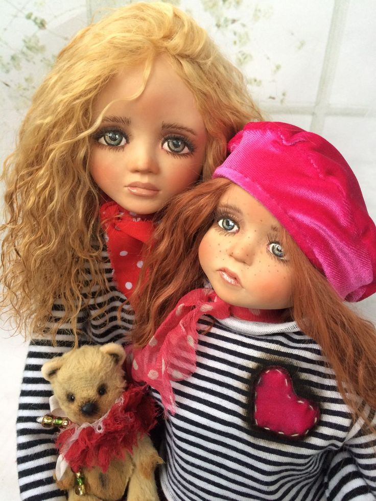 Handmade Art Doll | Купить Авторские куклы ручной работы: Вероника, Моника, Лея - кукла ручной работы