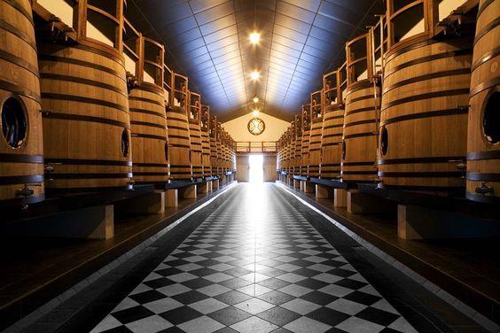 #Découverte des #cuves du #Château #PapeClément.  #wine #cave #vignoble #France #Vin