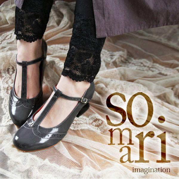 【楽天市場】他にない、「特別」なソマリヒール。≪somari≫品のある独創性。『Tストラップパンプス』【レディース パンプス 靴 Tストラップ】【メール便不可】:オシャレウォーカー osharewalker