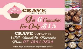 crave cupcakes toowoomba special offer