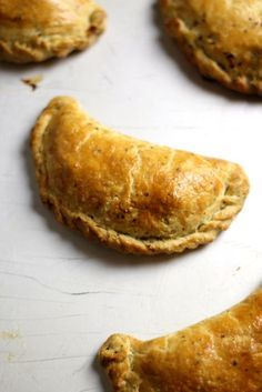 """Cornish Pasties ~ pastry pockets filled with beef & veg then sealed & baked to a golden brown 