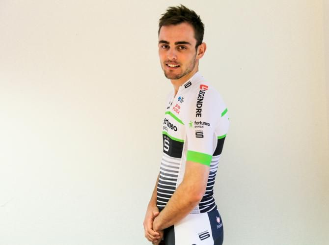 The Fortuneo team Fortuneo–Samsic is a Professional Continental cycling team based in Rennes, France that participates in UCI Continental Circuits races and UCI World Tour races when receiving a wild card. Maxime Daniel models the new kits.