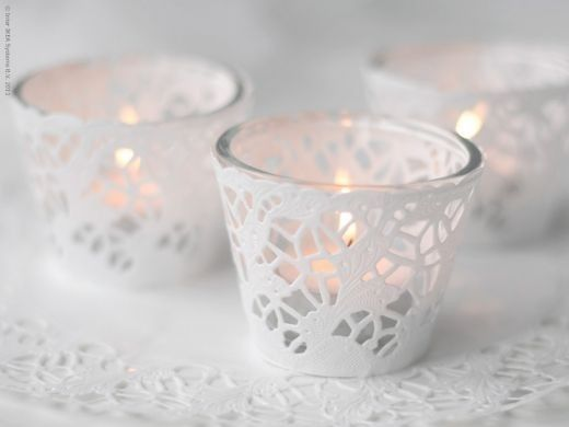 Creative bees: How to incorporate these paper doilies? :  wedding Covers For Votives