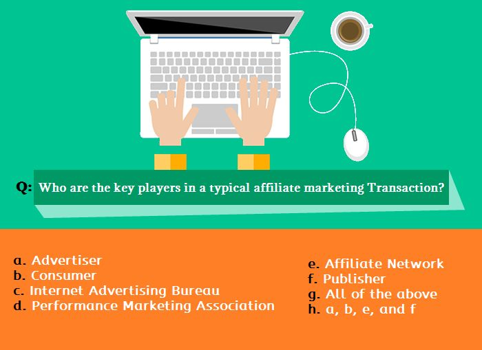 If you know how affiliate marketing works, you can answer it.