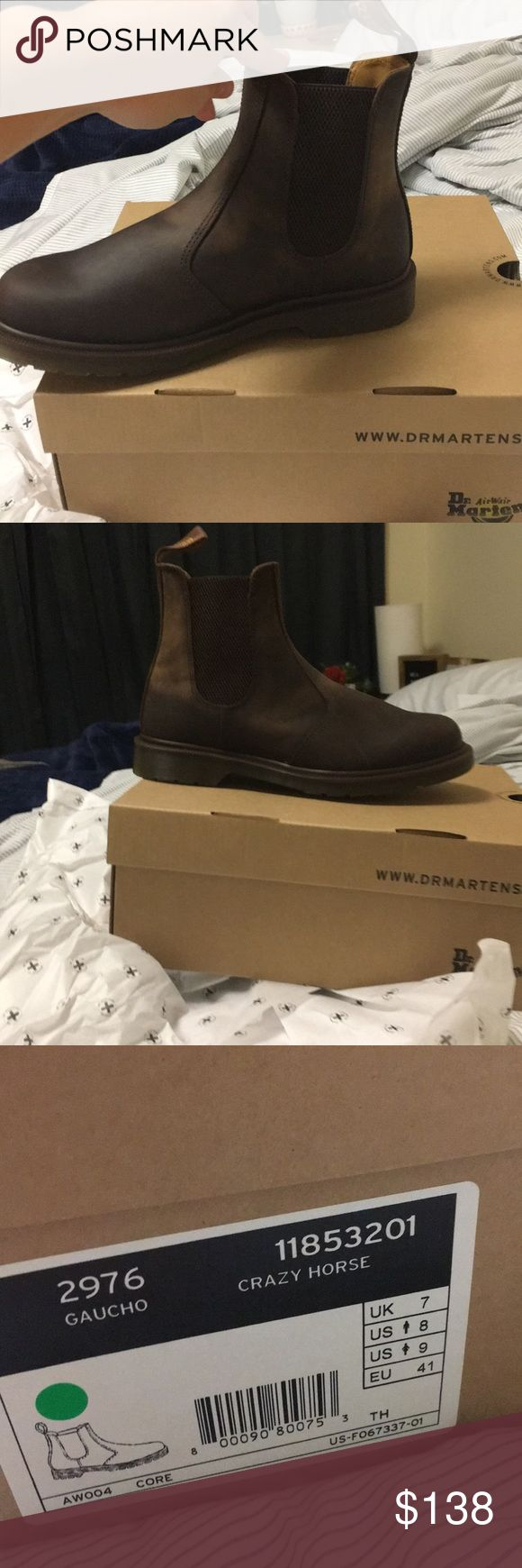 Dr. Martens Chelsea boot. Brand new. I love these, they just didn't fit. Brand new, only one shoe taken out. Sell for 145 online, just trying to get my money back. Price fair and firm. UK 7, women's 9. Dr. Martens Shoes Ankle Boots & Booties