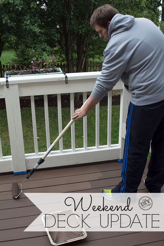 Wear and tear on your deck is normal especially if you have pets. Give your deck a weekend update, making it look good as new!  #spon #prepmatters