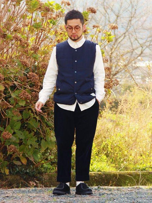 蓄熱オックスフォードシャツ×インナーダウンベスト×ユニクロTで着膨れしない防寒対策🐷✨ このT着る