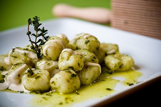 Gnocchi with Thyme Vinaigrette and Lemon Cashew Cream                                                                                                            Gnocchi with Thyme Vinaigrette and Lemon Cashew ...             by        teenytinyturkey..