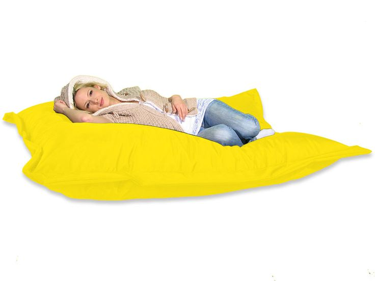Sitzsack XXL 180 x 140 cm Sitzkissen Gelb, Riesen Sitzsack, fest & Stabil