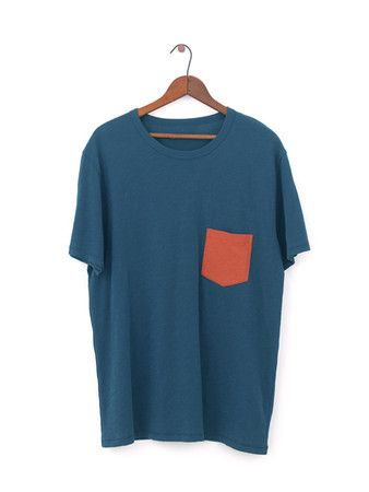 MOLLUSK SURF SHOP Block Pocket - Indigo Hot Tomato