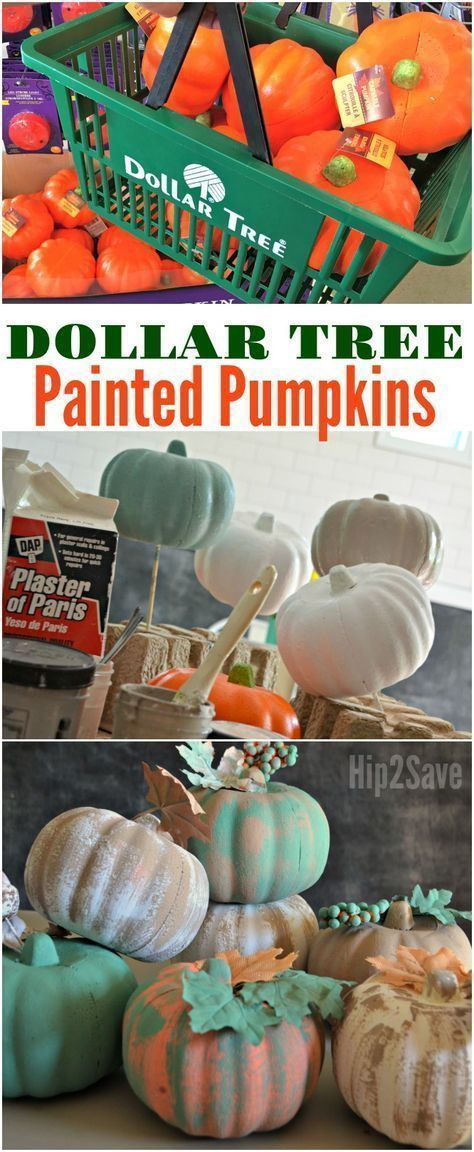 Easy Pumpkin Crafts With Dollar Tree Items  Holiday Decor