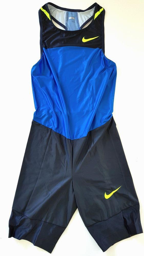 d75c4425f858 NIKE PRO ELITE SWIFT SPEEDSUIT RACE SINGLET SHORTS RUNNING TRACK   FIELD  OLYMPIC  Nike  ActivewearVest  Speedsuit  Sprintsuit  Singlet  Vest  Shorts  ...