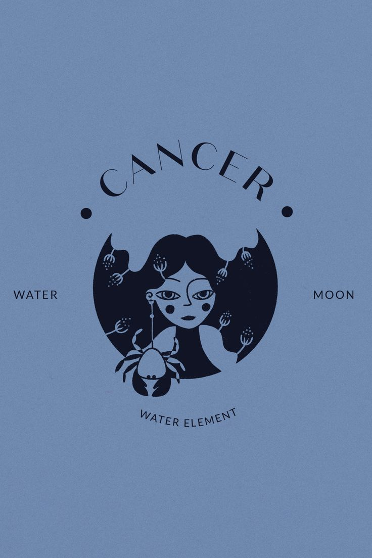 Cancer Horoscope Sign Astrology Zodiac Logo Design Procreate Illustration Hand Drawn Icon Cancer is part of a Logo Horoscope Pack that you can find in the link. Zodiac Art, Astrology Zodiac, My Zodiac Sign, Cancer Horoscope Sign, Hand Drawn Logo, Moon Signs, New Wall, Poster Prints, Zodiac Cancer