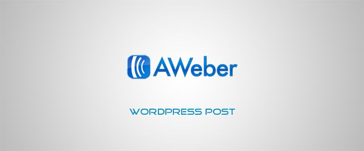 how to add aweber form in wordpress