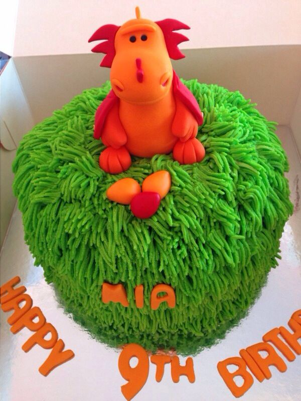 Dragon cake. The dragon was copied from a toy the client owned. SweetiePie Cupcakes. Auckland. New Zealand.