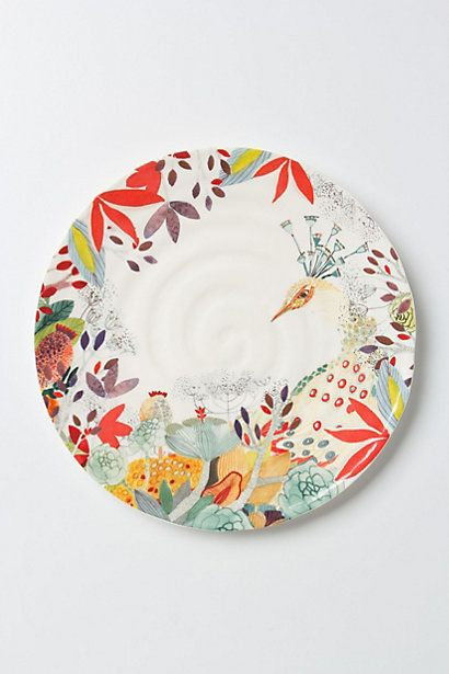 So impractical, so NOT neutral-- and so GORGEOUS.  Anthropologie Evenings in Quito Dinnerware