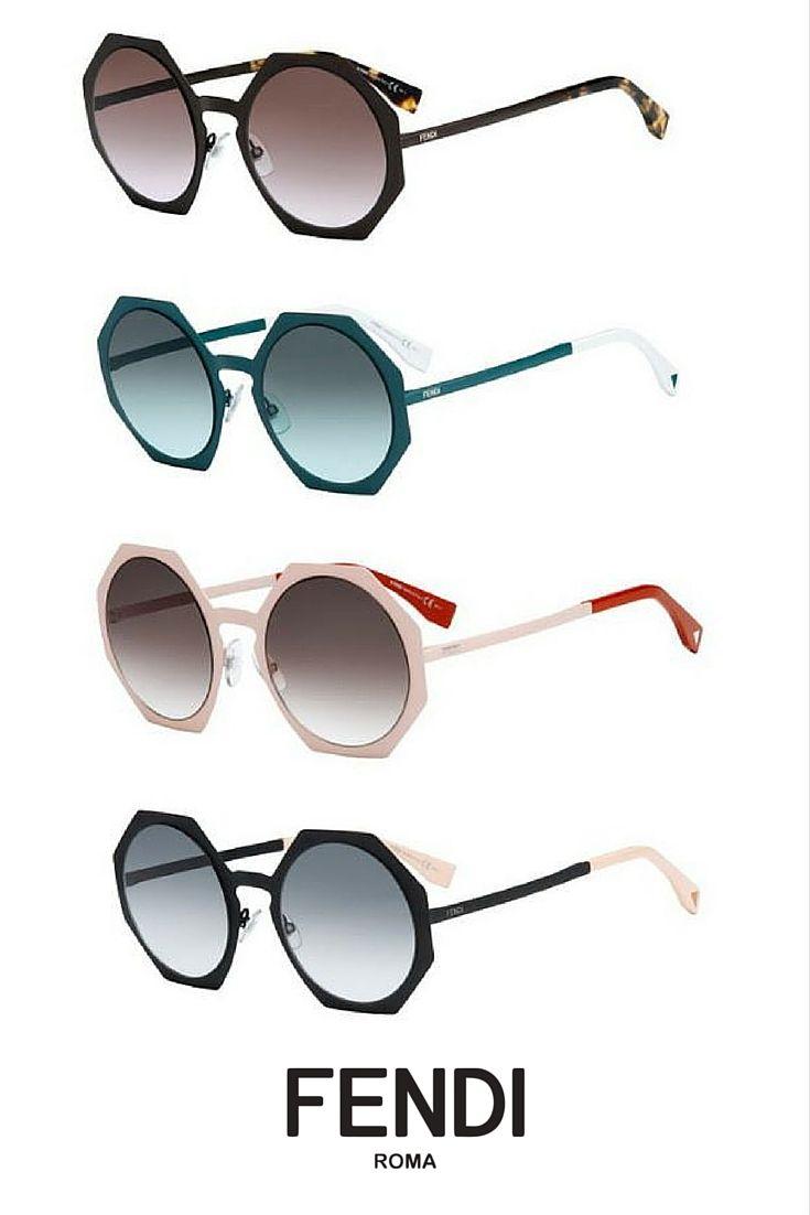 Fendi Facets sunglasses! Unique geometric shapes from a unique brand.