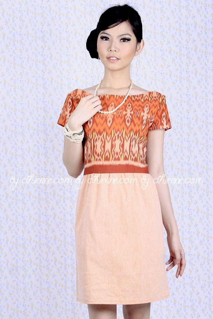 Batik Dress | Lace Dress | Dress Kebaya | Magnolia Ikat Dress | DhieVine | Redefine You