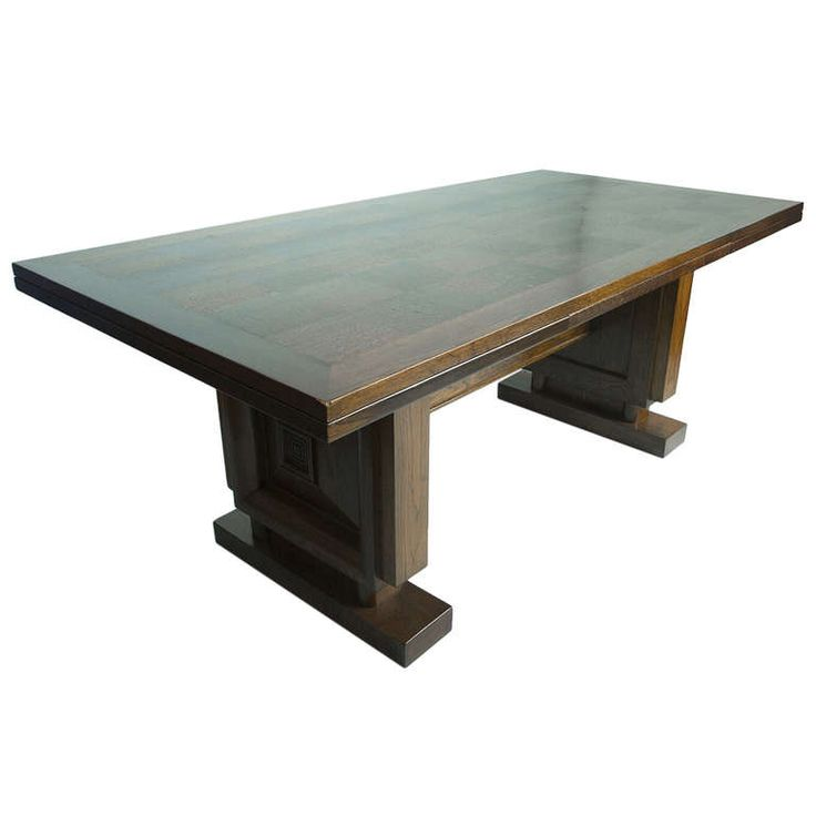 Oak Dining Table By Charles Dudouyt Table Pinterest