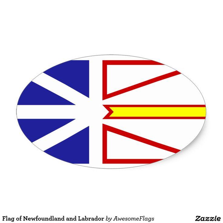 Flag of Newfoundland and Labrador Oval Sticker