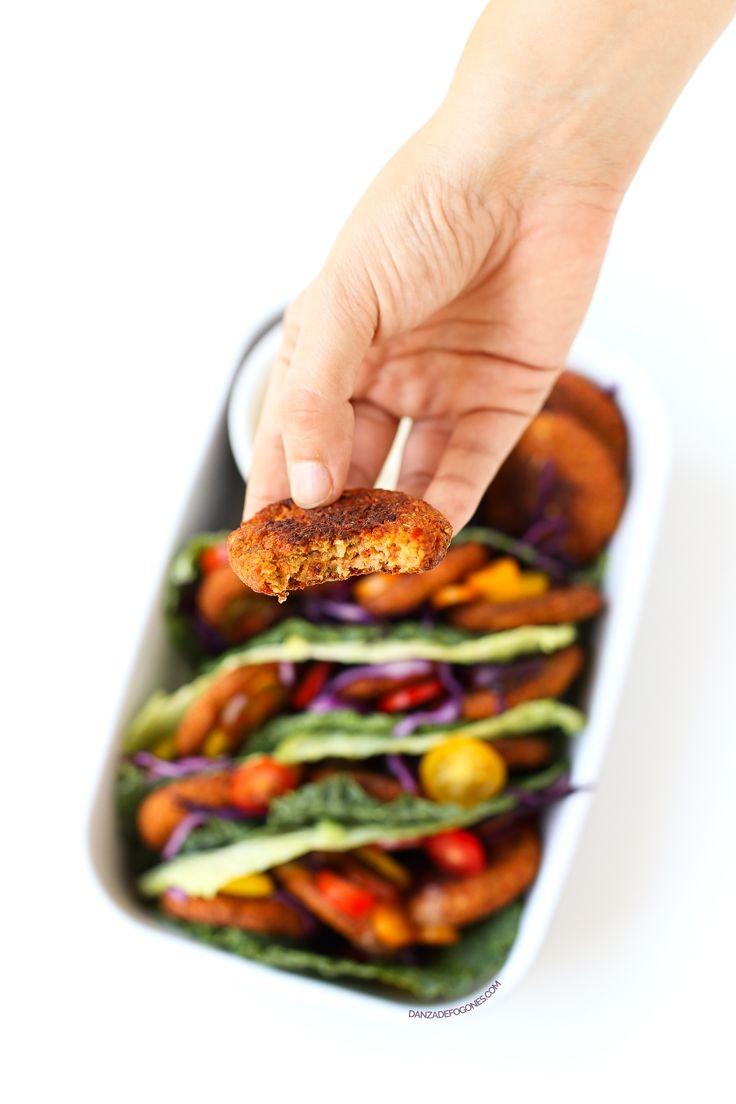 Receta de falafel al horno | danzadefogones.com #vegan #vegano