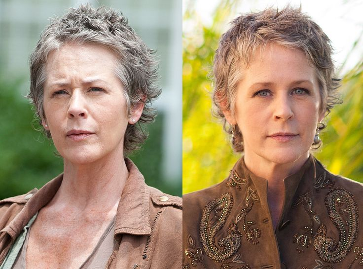 Melissa McBride (Carol Peletier) from The Walking Dead Stars In and Out of Costume   E! Online