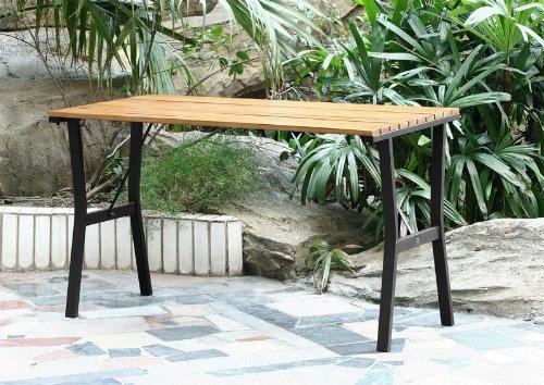 Gartentisch Granada, Holz+Metall ~ teak