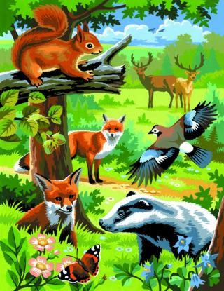 Woodland Animals - Junior Painting by Numbers Twin Packs - KSG Crafts