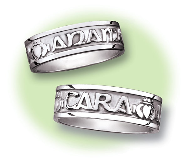His And Hers Mo Anam Cara Rings Engraved In Gaelic Quot My