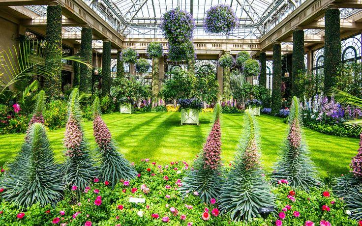 2560x1600 оранжерея ботанического сада лонгвуд, пенсильвания, сша, longwood gardens, usa