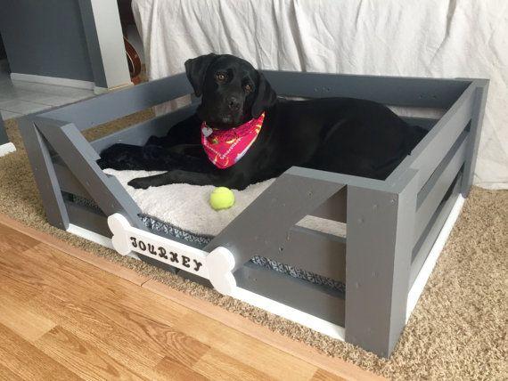 Large Custom Dog Bed 38x28x12