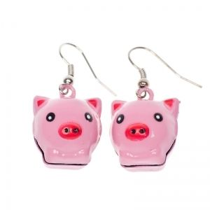 Jingling piggy earrings