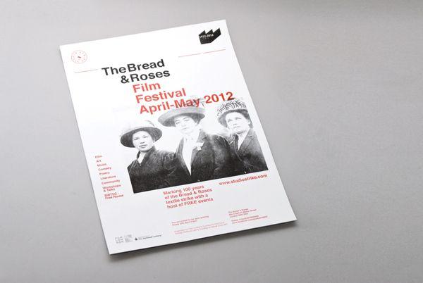 Bread & Roses FIlm Festival London on Editorial Design Served