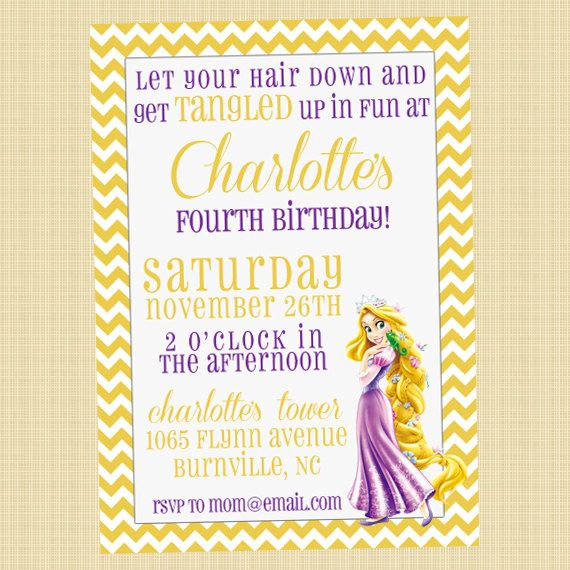 20 best Rapunzel Birthday Party images – Birthday Invitations Sydney